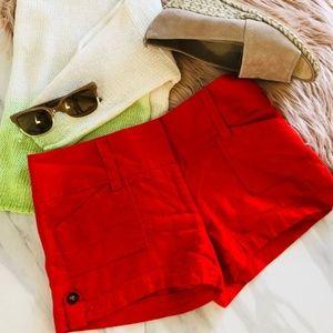 linen deep orange shorts size 5